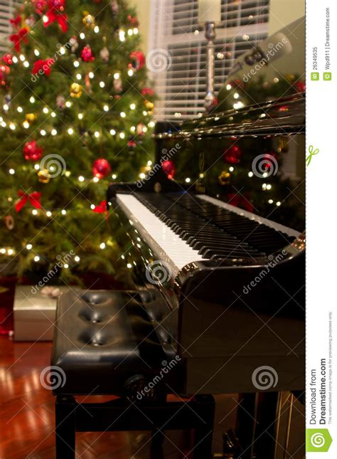christmas piano royalty free stock photo image 26349535