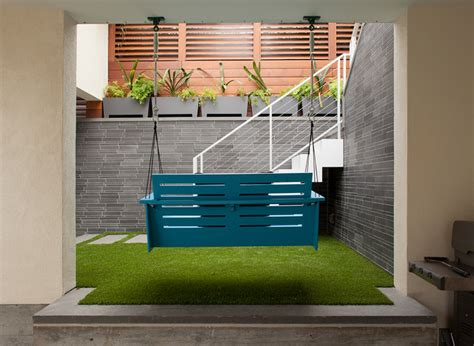 contemporary porch swing porch swing and exterior stairs contemporary patio