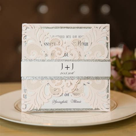 silver wedding invitation cards the wedding ideas with matched wedding invitations for 2017 stylish wedd