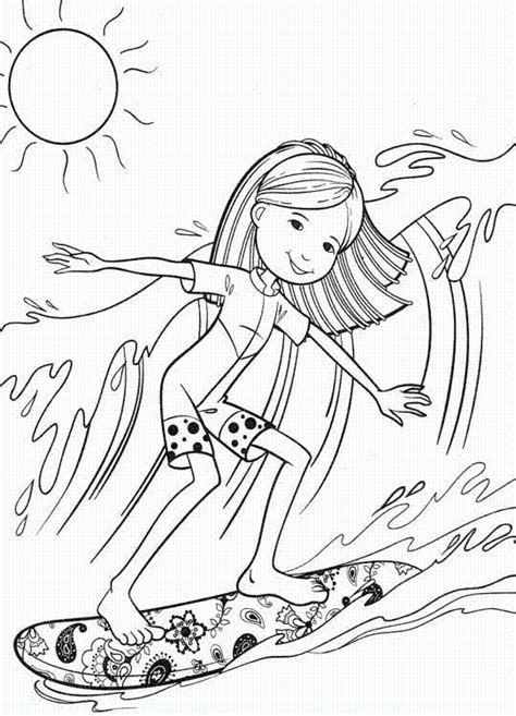 coloring pages surfer girl free coloring pages of surf board