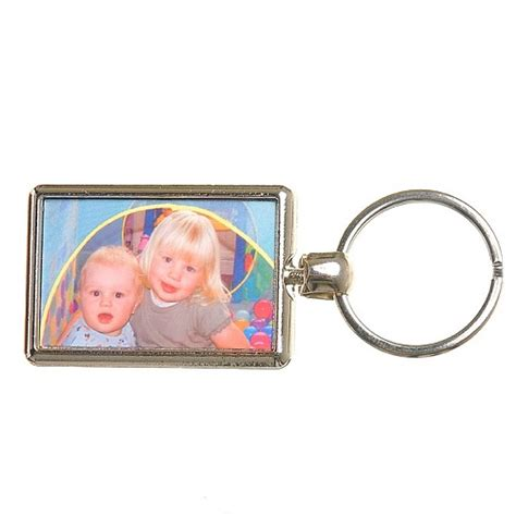 double sided coloured photo keyring ideal personalised