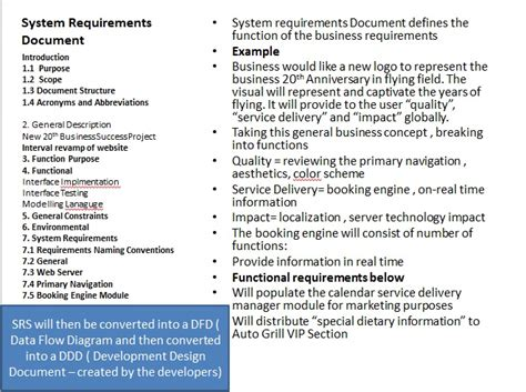 business requirement document requirement document sle