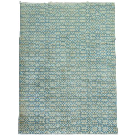deco style rugs turquoise vintage turkish deco style rug for sale at 1stdibs