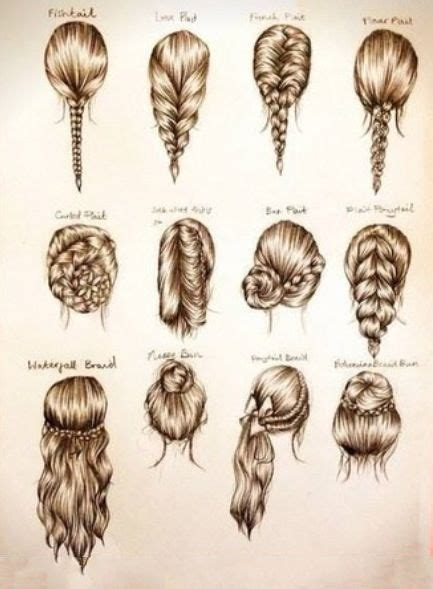different styles or ways to fix human hair distintos peinados make up and hair style pinterest