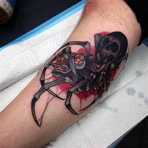 nasty tattoos 100 spider tattoos for a web of manly designs