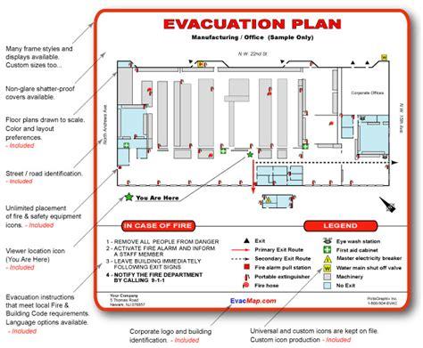 evacuation plan protection incendie mci
