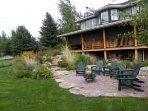 backyard patio ideas with gravel image design