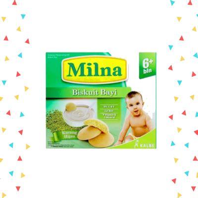 Milna Baby Biscuit Pisang 130 G milna biskuit kacang hijau 130gr heron baby shop