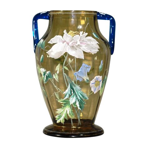Moser Vase by Large Moser Or Harrach Decorated Vase From