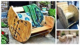 Wire Patio Chairs Diy Build A Rocking Chair With A Wooden Cable Reel Diy