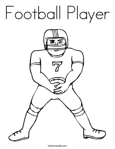 coloring book pages of football players football player coloring page twisty noodle
