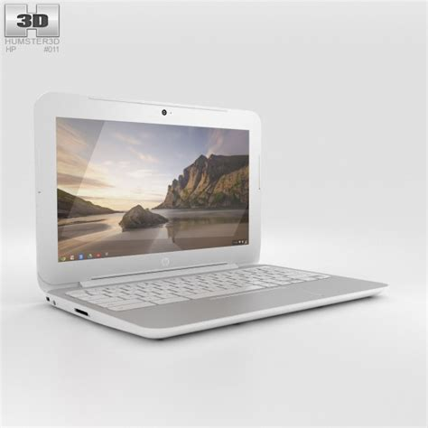 HP Chromebook 11 G3 Snow White 3D model   Hum3D