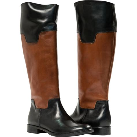 lori black and brown nappa leather boots