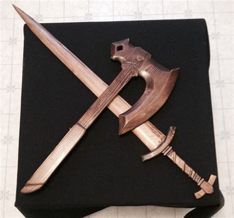 skyrim wood carved weapons projects   wood