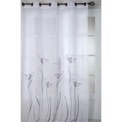voilage lotus 140x260cm blanc gris voilage rideau