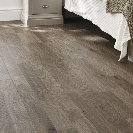 Professional Dark Grey Oak laminate flooring   Howdens Joinery