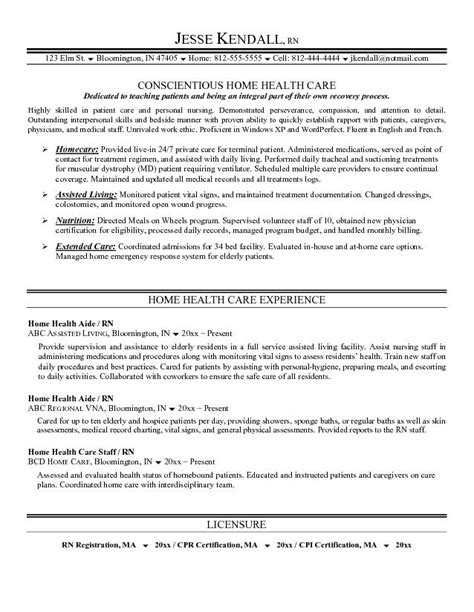 Healthcare Resume Exles by Home Health Care Resume Best Resume Gallery