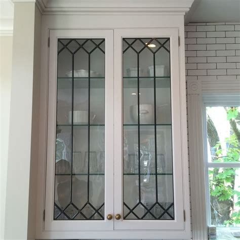 glass door windows on kitchens best 25 leaded glass cabinets ideas on glass