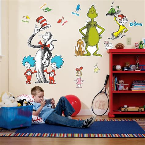 cat in the hat wall stickers dr seuss wall decals