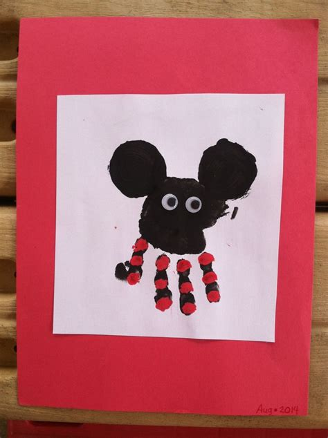 disney craft projects mickey mouse handprint arts crafts for raylen
