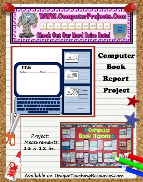 Computer Book Report Project Templates Worksheets Grading Rubric And More Computer Refresh Project Template
