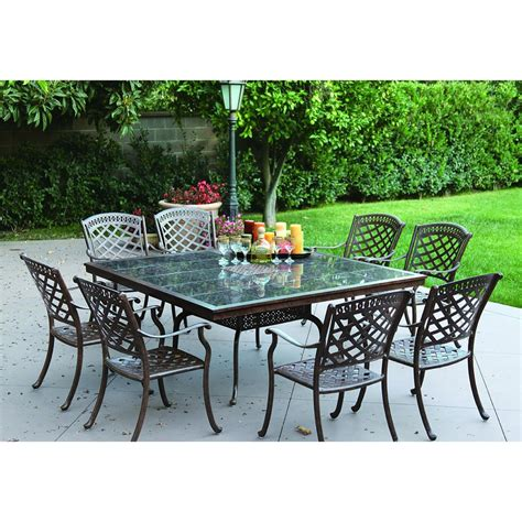 Granite Table Top Dining Sets Darlee Sedona 9 Dining Set With Granite Table Top Atg Stores
