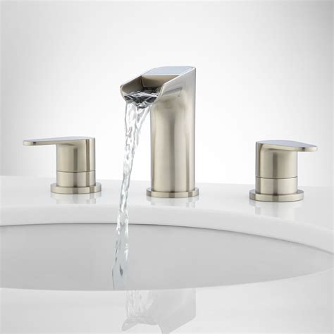 waterfall faucets bathroom pagosa widespread waterfall faucet bathroom sink faucets