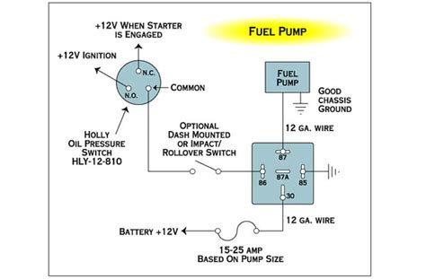 electrical wiring fuel with relay and toggle the