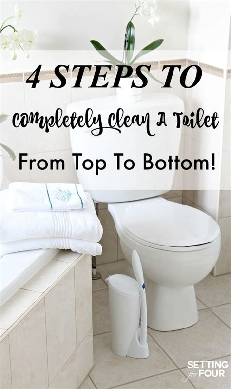 Toilet That Cleans Your Bottom Clean A Toilet In 4 Steps Setting For Four