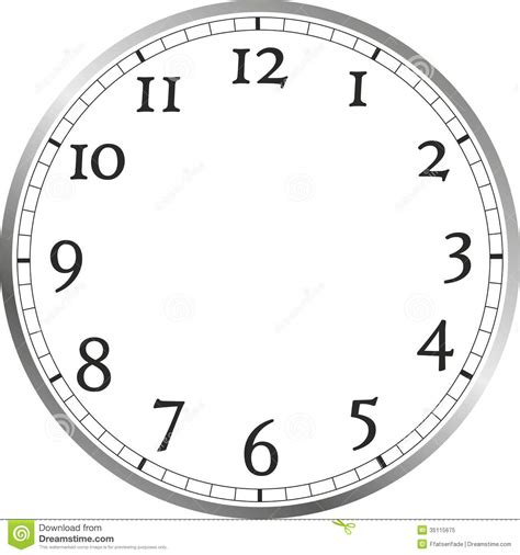printable clock face without hands large clock free clipart
