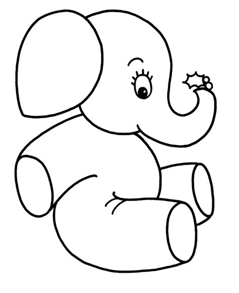 easy printable animal coloring pages learning years christmas coloring pages baby elephant