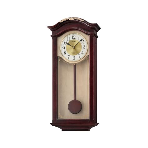 wall watch seiko qxm492blh wall clock w pendulum and chimes bright