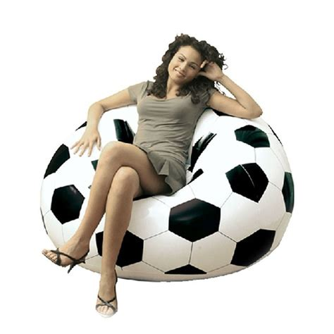 couch soccer inflatable portable outdoor garden sofa couch soccer