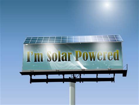 Signs Of The Times Solar Powered Billboards Solar Companies Solar Billboard Lights