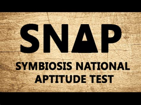 Symbiosis Entrance Test Sle Papers For Mba by Symbiosis National Aptitude Test Snap Syllabus Careerindia
