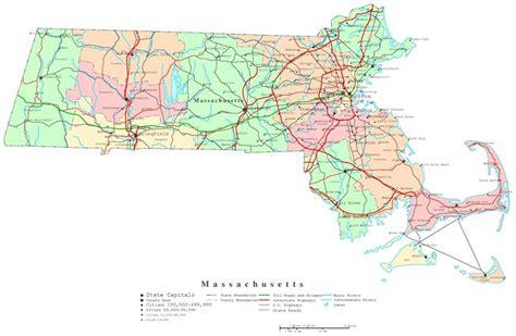massachusetts political map massachusetts printable map