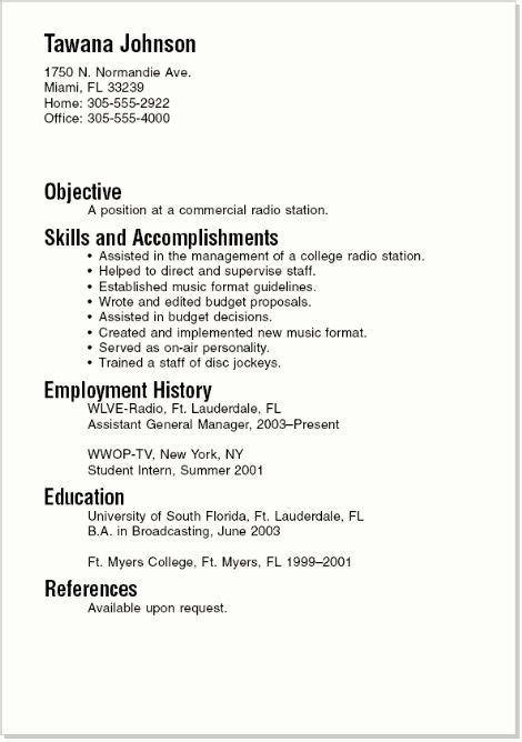 resumes sles for college students summer the world s catalog of ideas