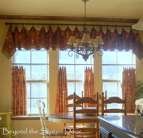 kitchen cafe curtains minor kitchen update and cafe curtain details beyond the screen door