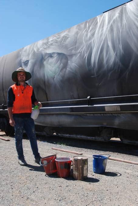 spray painter goulburn manildra s magic captured by famed artist