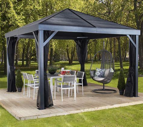 sojag aluminium pavillon gazebo south beach  inkl