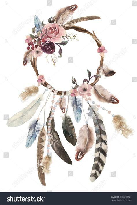 design dream isolated watercolor decoration bohemian dreamcatcher boho