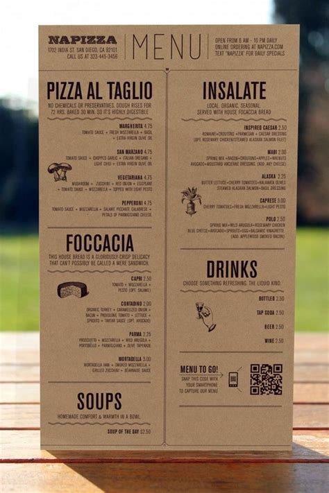 menu card design layout 40 smart and creative menu card design ideas