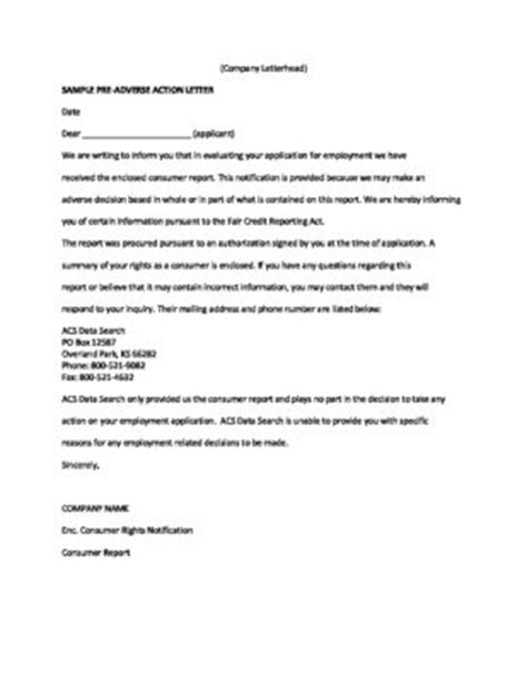 best of pre adverse letter cover letter exles