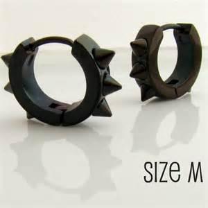 mens black earrings mens earrings black hoop earrings for or rockers