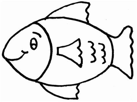 fish coloring pages 5 fish template cut out coloring home