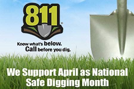 april is national safe digging month amicalola electric