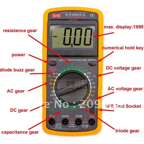 Multimeter Multitester Digital Szbj Dt9205a multimetro digital