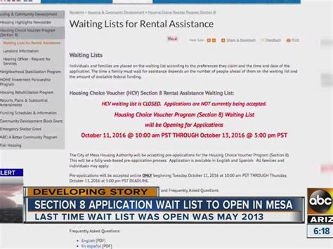 How To Apply For Section 8 In Az by City Of Mesa Pushes Back Section 8 Housing Pre Application Acceptance Dates Abc15 Arizona