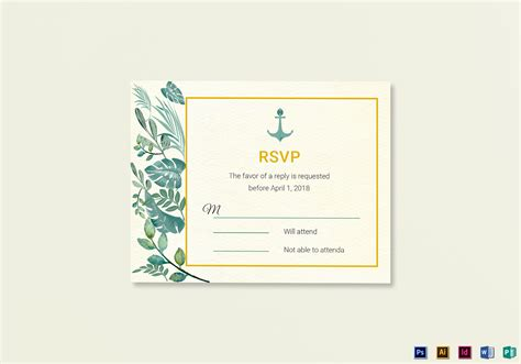 masquerade rsvp cards microsoft publisher template nautical wedding rsvp card template in psd word