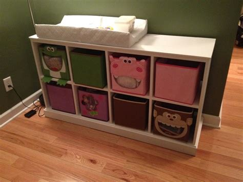 changing table with storage pottery barn rip changing table storage by dominic
